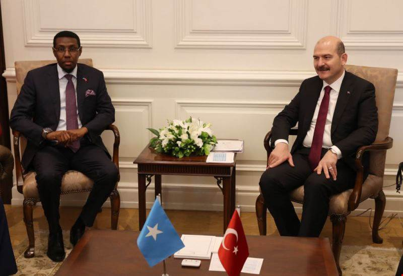 Minister of Interior Süleyman Soylu Met with Somalian Minister of Internal Security