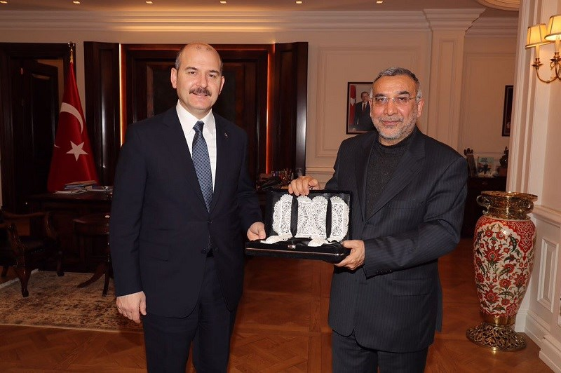 Minister of Interior Soylu Received the Ambassador of Iran to Ankara