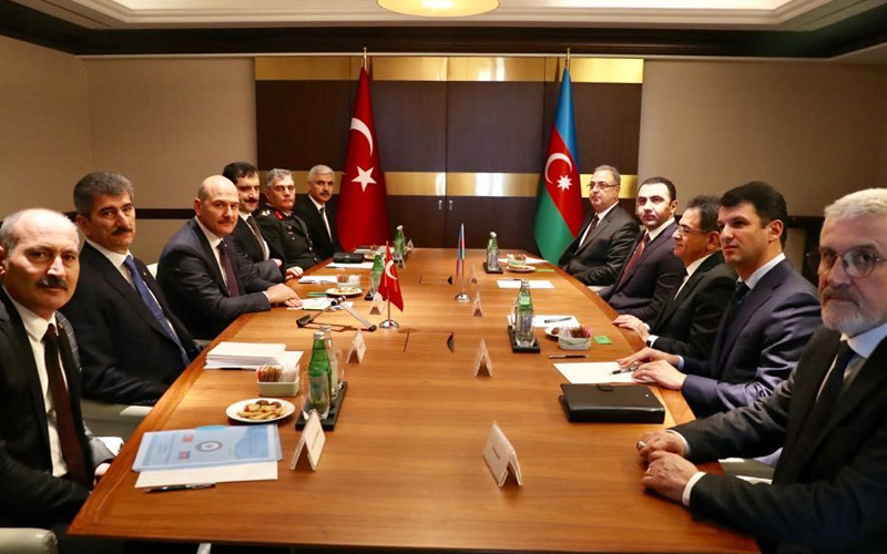 Our Minister Of Interior Mr. Süleyman Soylu's Contacts in Baku