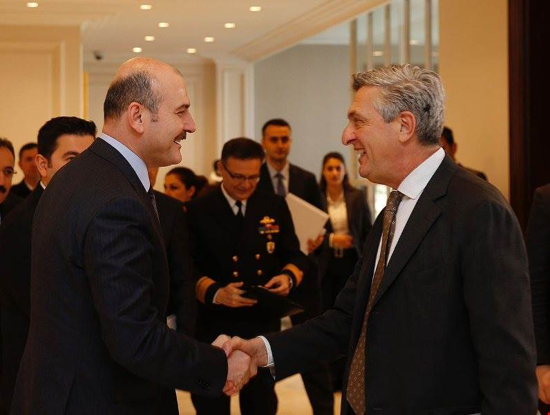 Our Minister of Interior H.E. Süleyman Soylu Received Filippo Grandi, UN High Commissioner for Refugees