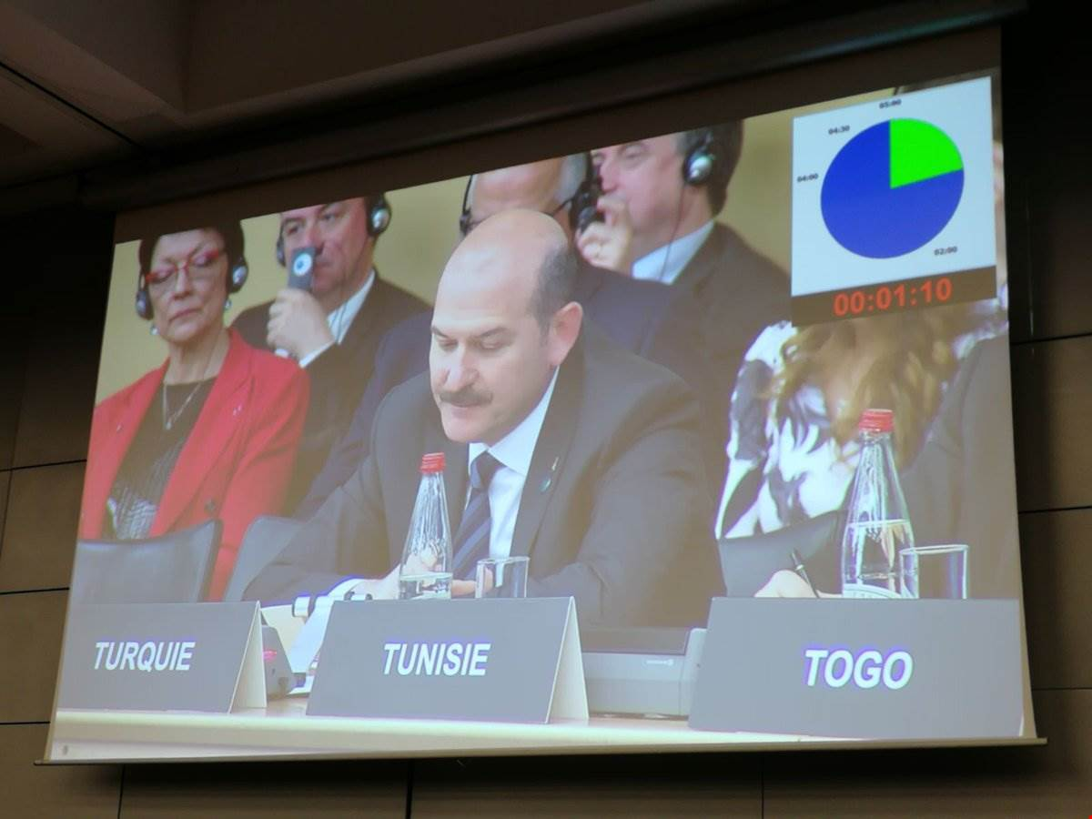 The Minister Mr. Soylu Attended the Conference on Combatting Terrorism Financing That Arranged in France