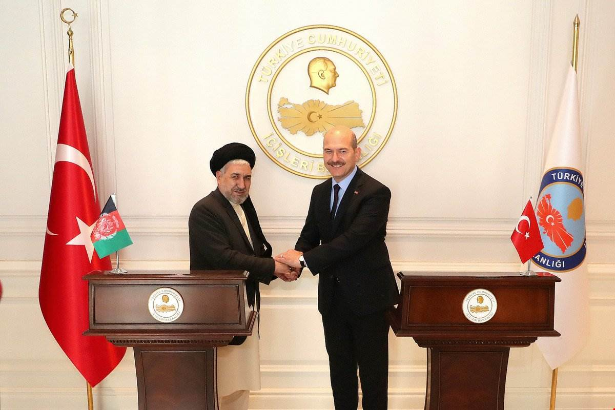 Our misinter of Interior Mr. Süleyman Soylu Received the Minister of the Refugees and Repatriations of Islamic Republic of Afghanistan Mr. Balkhi