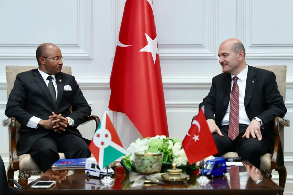 The Security Cooperation Agreement was signed between Turkey and Burundi