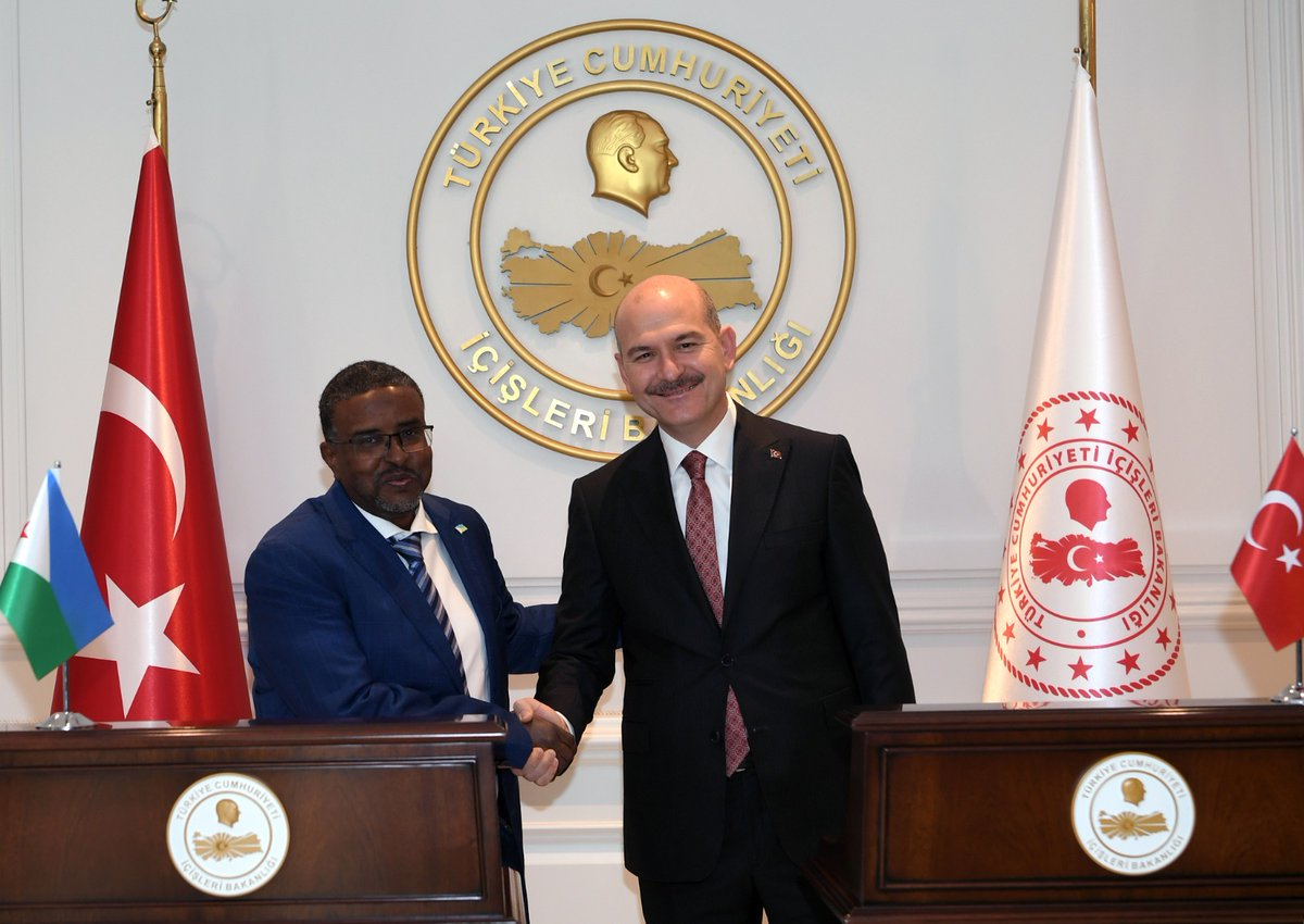 Our Minister Mr. SOYLU came together with Mr. Moumin Ahmed Cheick, the Interior Minister of Djibouti