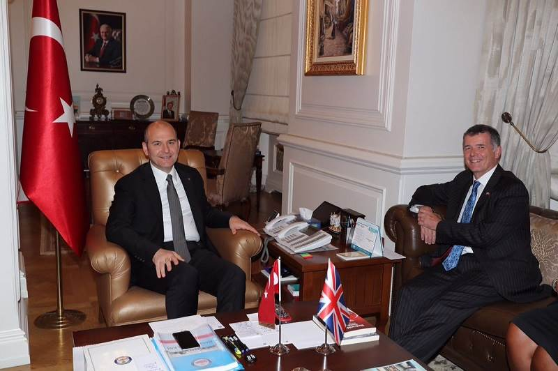 Minister of Interior Soylu received UK Ambassador to Turkey